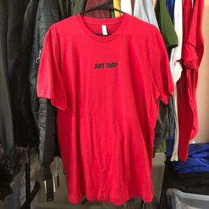 Other - Just Trap Tee - Red w/ Black